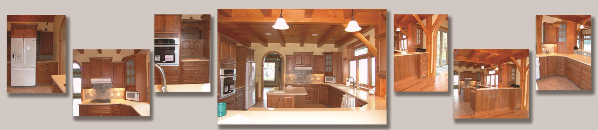 Custom Kitchen Cherry Wood Cathedral Arch Square Raised Panel