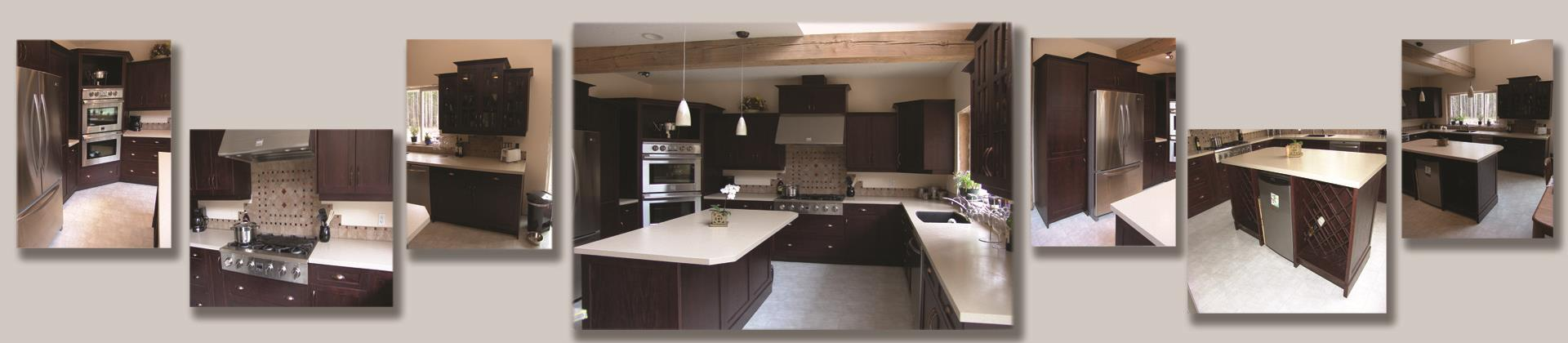 Kitchen Cabinets Stained Dark Oak Flat Panel