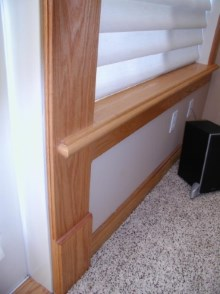 Decorative trims, crown moulding, and interior renovations by Quality Cabinets - Parksville - Qualicum - Project-23