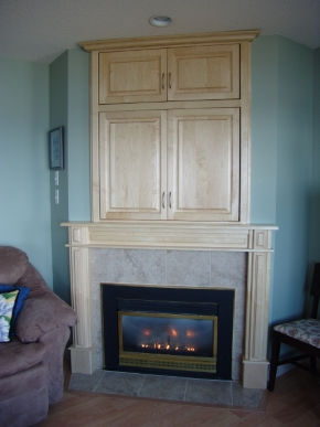 Custom Designed Fierplace Mantels and Fireplace Surrounds by Hamilton Thorne Quality Cabimets Ltd. - Project-14