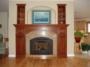 Custom Designed Fierplace Mantels and Fireplace Surrounds by Hamilton Thorne Quality Cabimets Ltd. - Project-2b