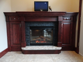 Custom Designed Fierplace Mantels and Fireplace Surrounds by Hamilton Thorne Quality Cabimets Ltd. - Project-8