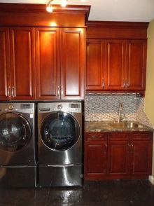 Laundry room cabinets and renovations by Quality Cabinets - Parksville - Qualicum - Project-1b