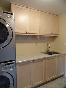 Laundry room cabinets and renovations by Quality Cabinets - Parksville - Qualicum - Project-3a