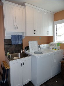 Laundry room cabinets and renovations by Quality Cabinets - Parksville - Qualicum - Project-7a