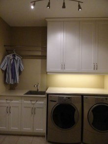 Laundry room cabinets and renovations by Quality Cabinets - Parksville - Qualicum - Project-8